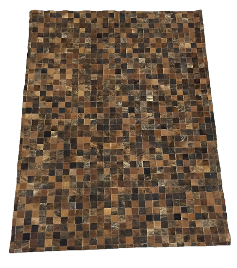 Patchwork Cowhide Rug |  Natural Brindle