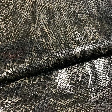 Metallic Snake Emboss | Silver / Black