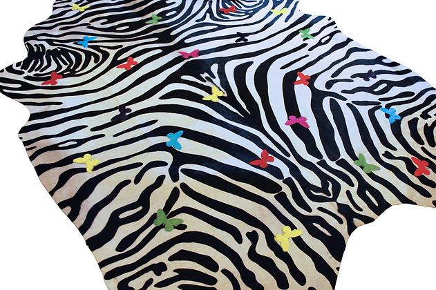 Zebrafly Cowhide Design Rug