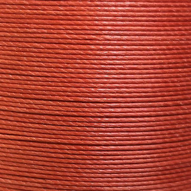Superfine Waxed Linen Thread |  Rust Red | MS052