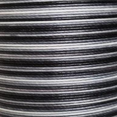 Superfine Waxed Linen Thread | Gradient Black | MS068