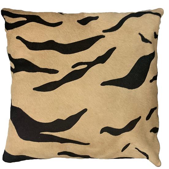 Cowhide Pillow | Tiger | 60cm x 60cm
