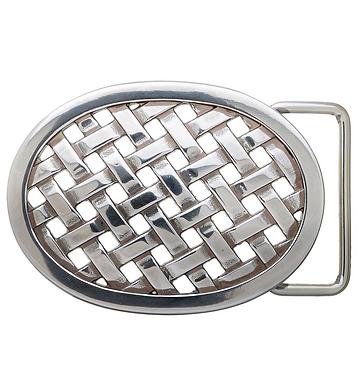 3D Belt Buckle   Oval Lattice Design