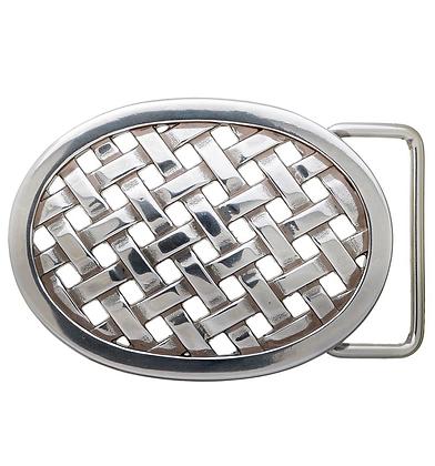 3D Belt Buckle | Oval Lattice Design