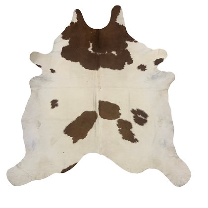 Cowhide Rug   Brown and White   L   10198