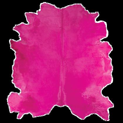 Italian Dyed Cowhide Rug | Fuchsia