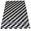 Thumbnail: Patchwork Cowhide Rug   Paralellogram Design 160 x 220cm