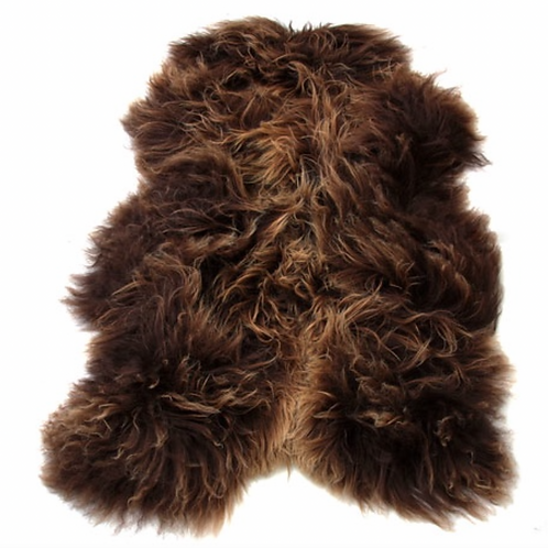 Icelandic Sheepskin Rug Brown Colour