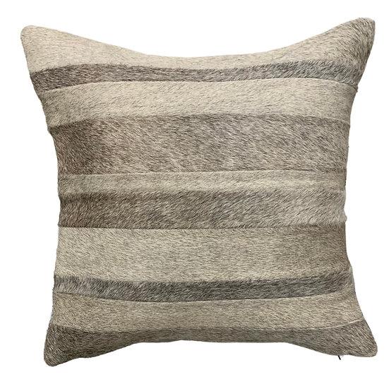 Cowhide Pillow | Natural Grey Tone Cowhide | 45cm x 45cm