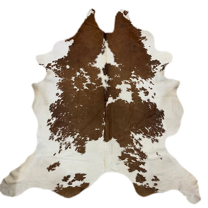 Cowhide Rug | Brown and White | XL | 10151