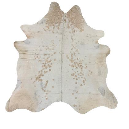 Cowhide Rug   Beige Spots   L   10174