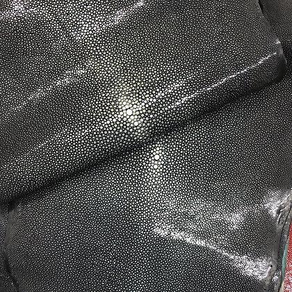 Stingray Leather | Black | Polished