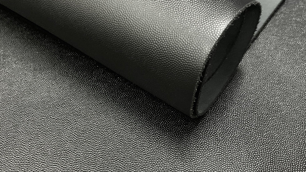 Caviar Grain Leather | Black | By the Sqft