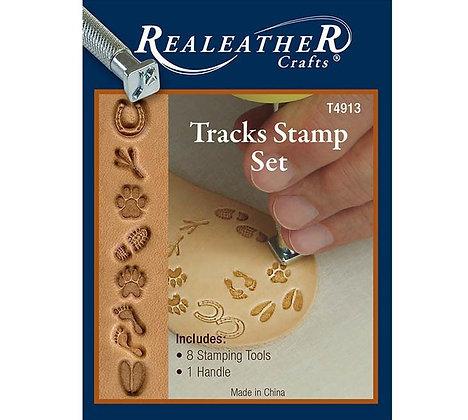 Tracks Stamp Set   Real Leather