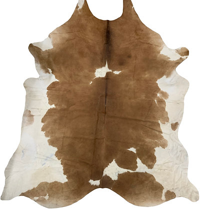 Cowhide Rug | Brown and White | XL | 10235