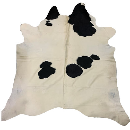 Cowhide Rug   Black and White   L   10123