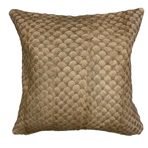 beige pirarucu or arapaima pillow cushion