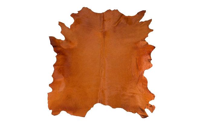 Italian Dyed Cowhide Rug | Arancio