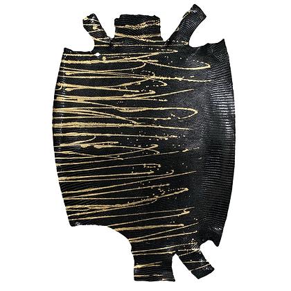 Lizard   Skateonice   Black with Gold  Metallic