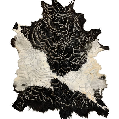 Goat Hide Rugs | Hand Carved Natural | 10284