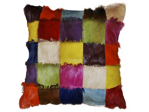 Patchwork Springbok Pillow Multicolour