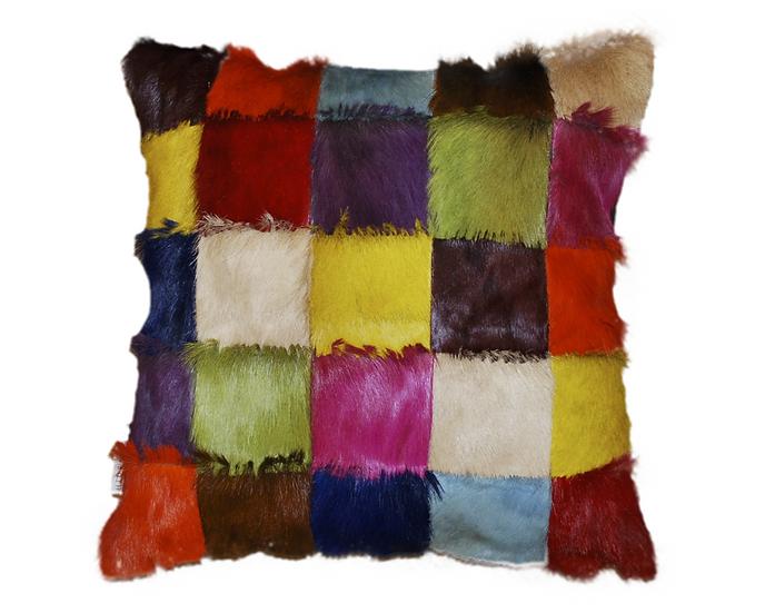 Patchwork Springbok Pillow Multicolour