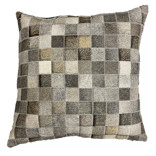 Cowhide Pillow | Natural Grey | 60cm x 60cm