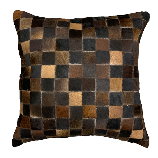Cowhide Pillow | Chocolate Brown | 60cm x 60cm