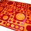 Thumbnail: Patchwork Cowhide Rug | Bolla | Orange, Red | 160 x 220cm