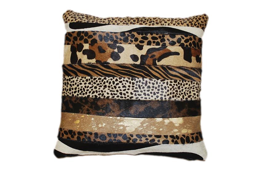 Cowhide Cushion Cover Safari Design