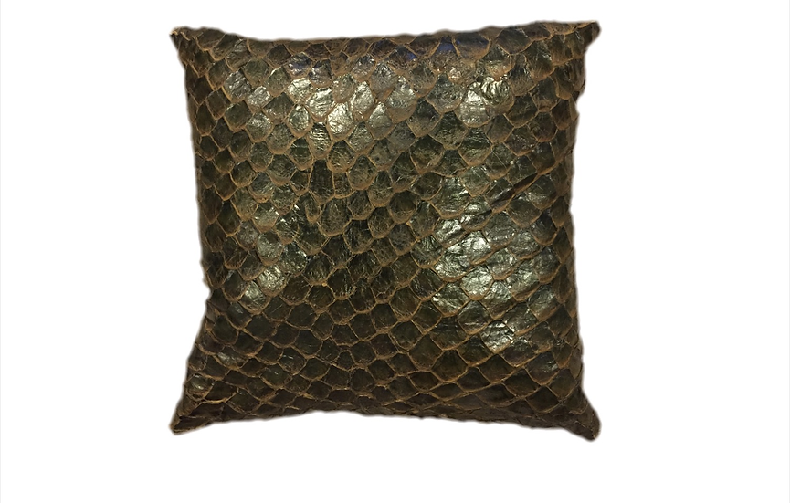 Exotic Pillow | 60cm x 60cm | Pirarucu Leather