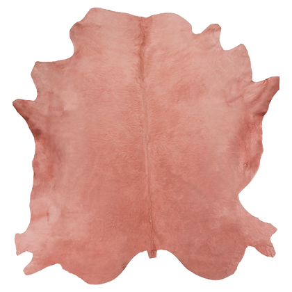 Italian Dyed Cowhide Rug | Rosa