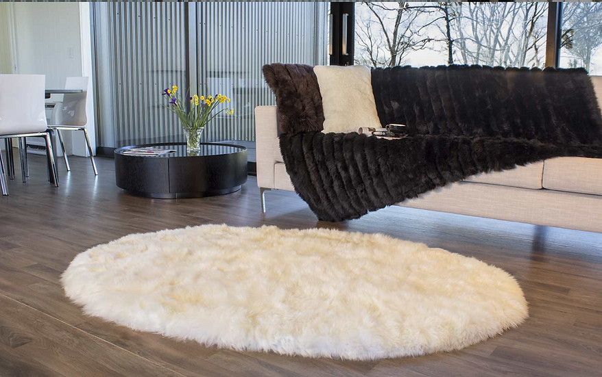 Sheepskin Design Rug | Longwool Oval