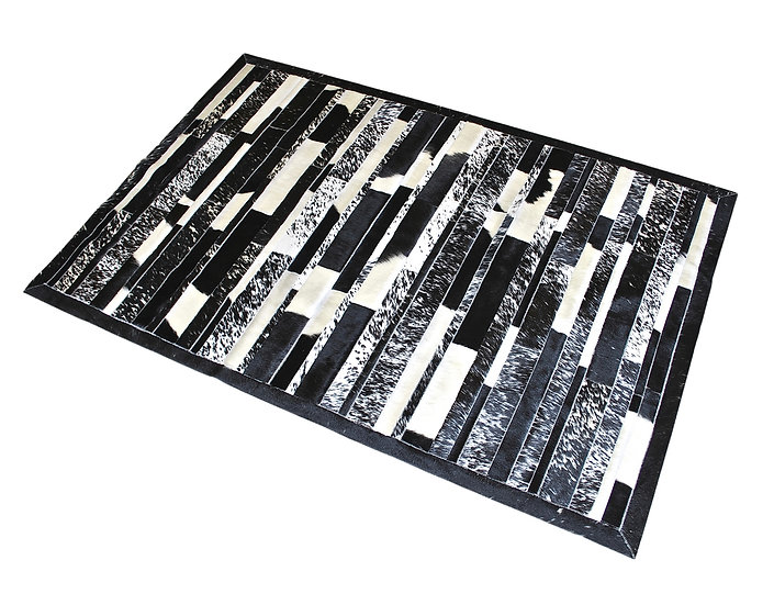 Patchwork Cowhide Rug | Stripes | Various Sizes
