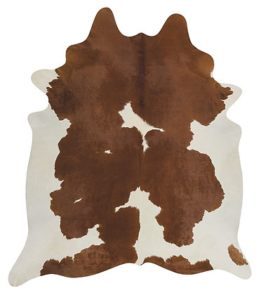 Cowhide Rug | Brown and White