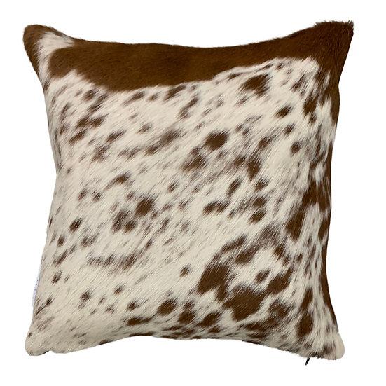 Cowhide Cushion | 40cm x 40cm | Brown and White