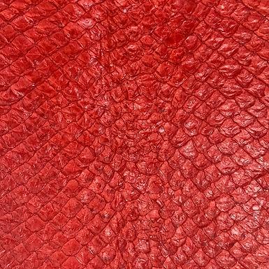 Arapaima Leather | Red Shiny