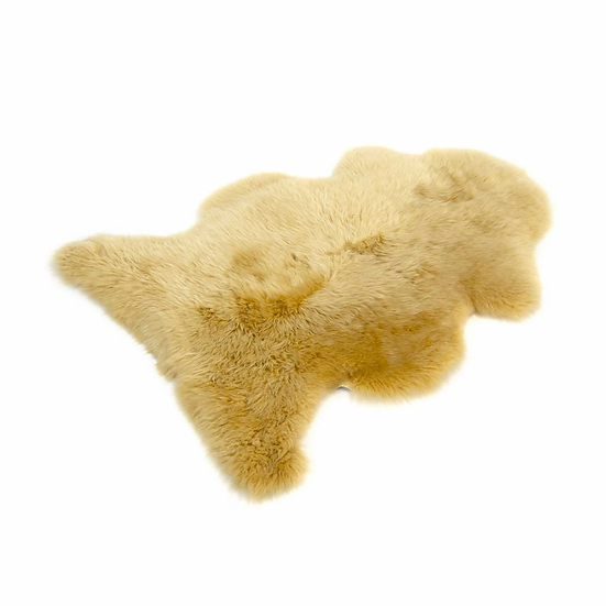 Yellow One Piece Longhair Sheepskin Rug