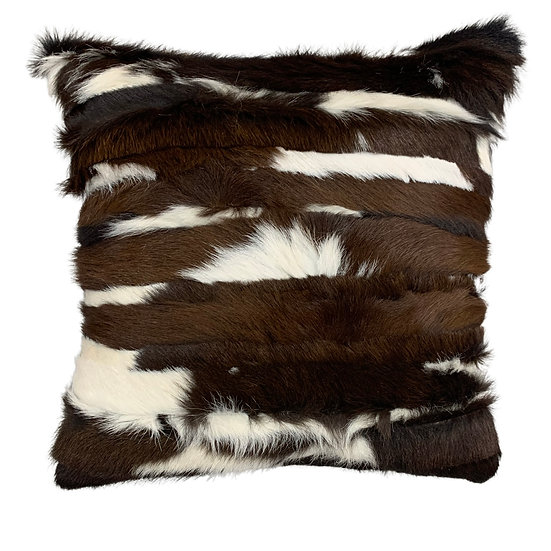 Calfhide Cushion | Stripes | Exotic