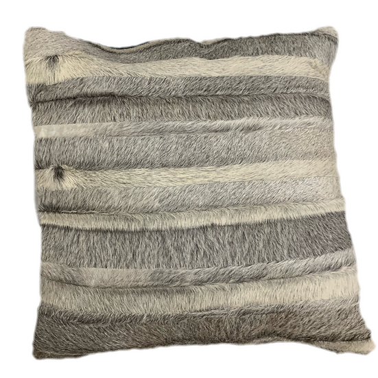 Cowhide Pillow | Natural Grey Stripes | 60cm x 60cm