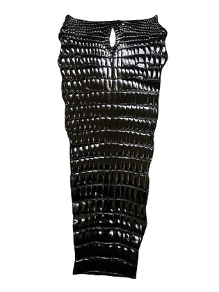 Glazed Nile Crocodile Tail | Black