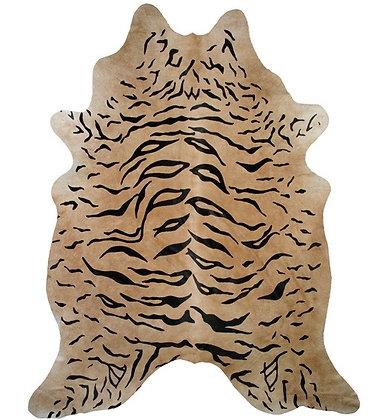 Tiger Printed Cowhide | On Beige