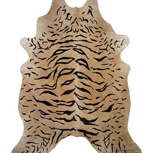 Tiger Printed Cowhide | On Beige