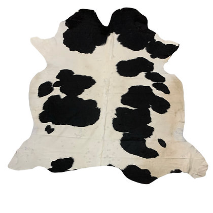 Cowhide Rug | Black and White | L | 10049