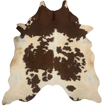 Cowhide Rug   Brown and White   XL   10199