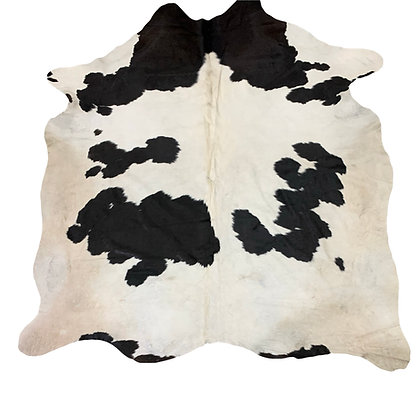 Cowhide Rug   Black and White   L   10122