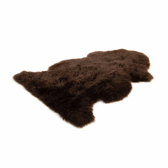 Dark Brown One Piece Longhair Sheepskin Rug