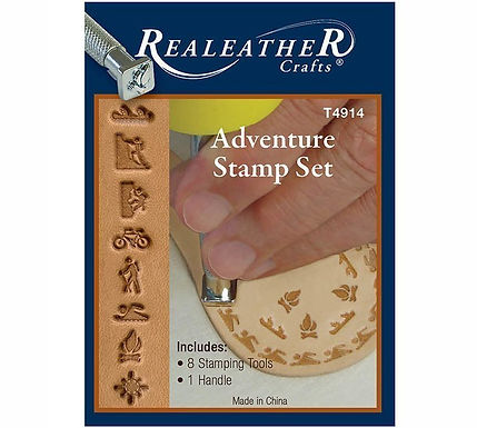 Adventure Stamp Set | Real Leather