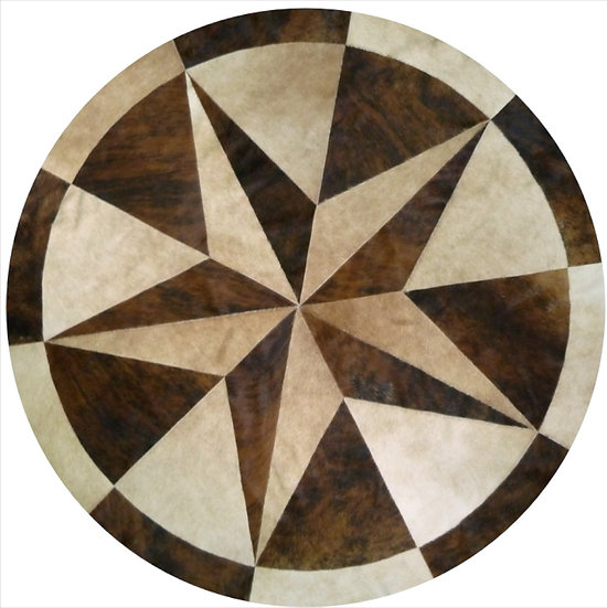 Dallas Patchwork Cowhide Rug | Natural Brindles 150cm