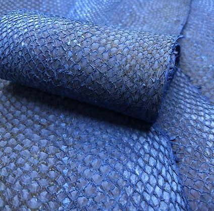 Salmon Natural Leather | Blue